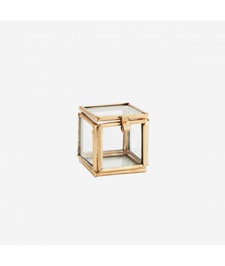 Mini boîte en laiton doré