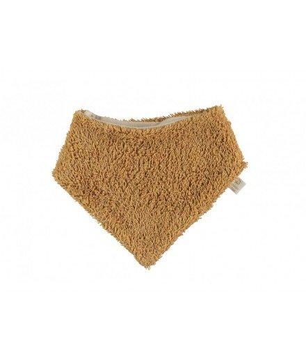 Bavoir bandana en tissu éponge So Cute - Caramel