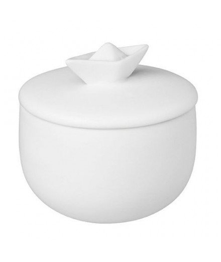 Petite boîte en porcelaine - Bateau