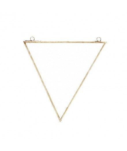 Miroir en laiton à suspendre - Triangle