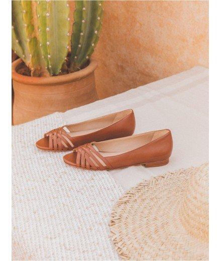 Sandale L'Entremêlée - Camel