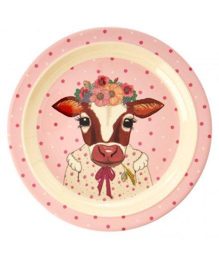 Assiette pour enfant en mélanine - Vache