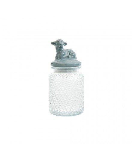 Bocal hermétique en verre et porcelaine - Agneau