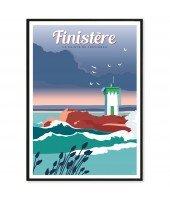 Affiche A4 Finistère - Pointe de Trévignon