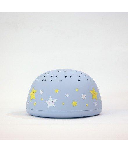 Veilleuse enfant projecteur d'étoiles - Bleu
