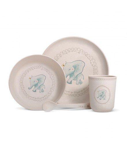 Set de vaisselle en bambou - Elephant Couronne