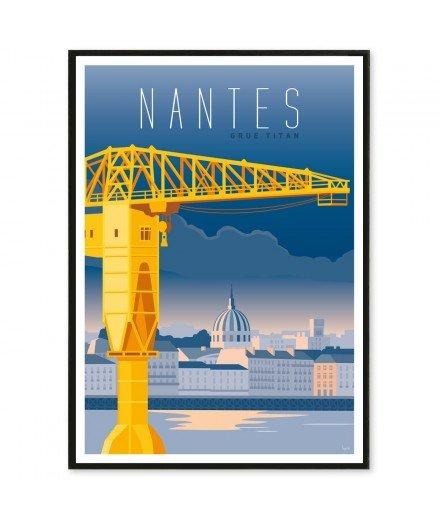 Affiche Nantes - Grue Titan