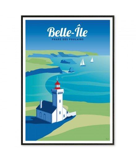 Affiche Belle Ile - Phare des Poulains