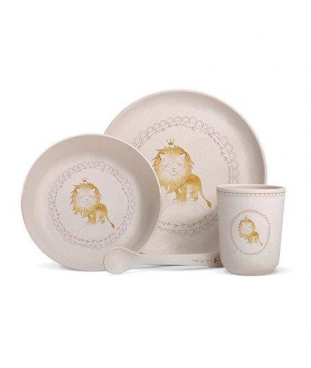 Set de vaisselle en bambou - Lion Couronne