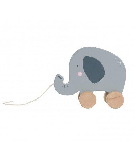 Jouet à tirer en bois - Eléphant