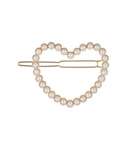 Barrette Coeur à perles