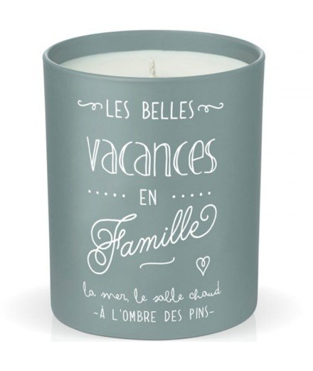 Bougie en cire naturelle - Les Belles Vacances en Famille
