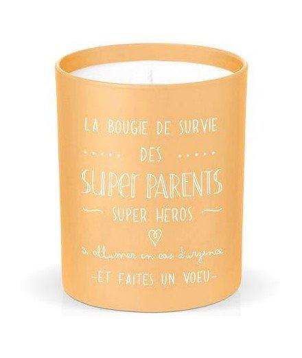 Bougie en cire naturelle - La bougie de survie des super parents