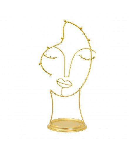 Porte-bijoux en métal visage - Maya