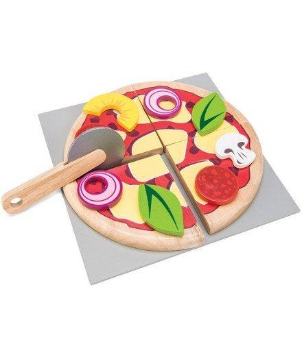 Pizza à partager en bois