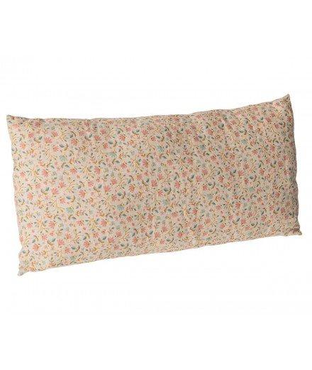Coussin rectangulaire en lin - Fleurs