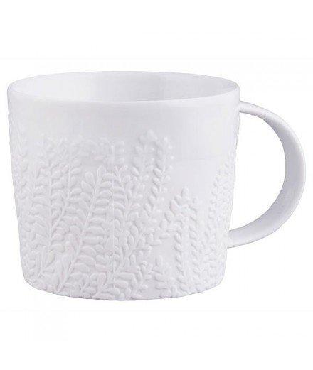 Tasse en céramique motif feuillage