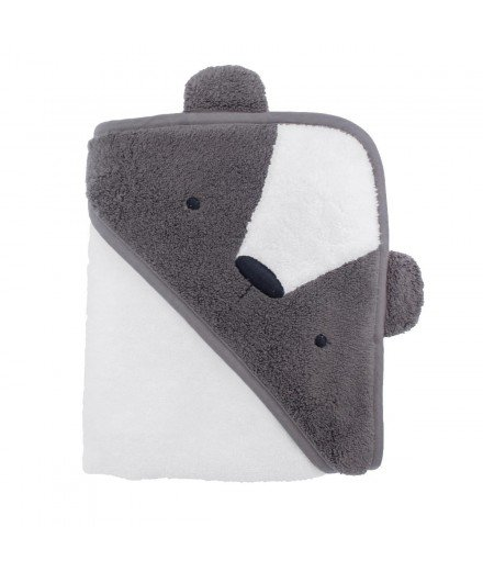 Cape de bain en coton biologique - Terry l'ours