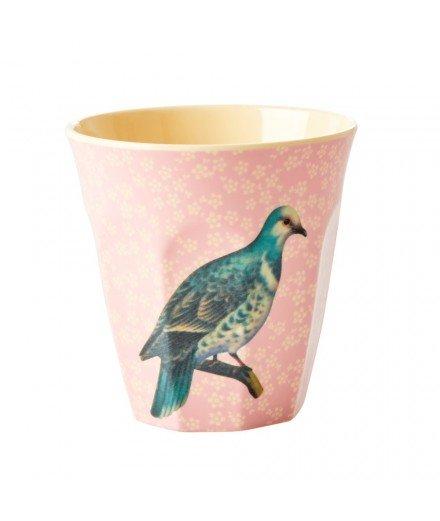 Gobelet médium en mélamine - Oiseau Vintage