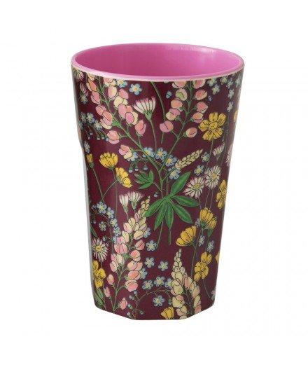 Grand Gobelet en mélamine - Lupin Fleurs violet