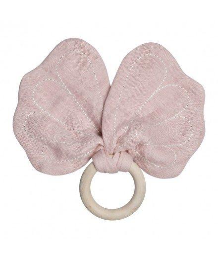 Anneau dentition papillon - Rose