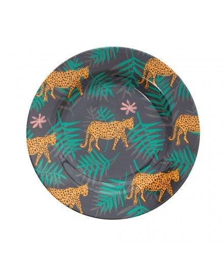 Assiette en mélanine - léopard