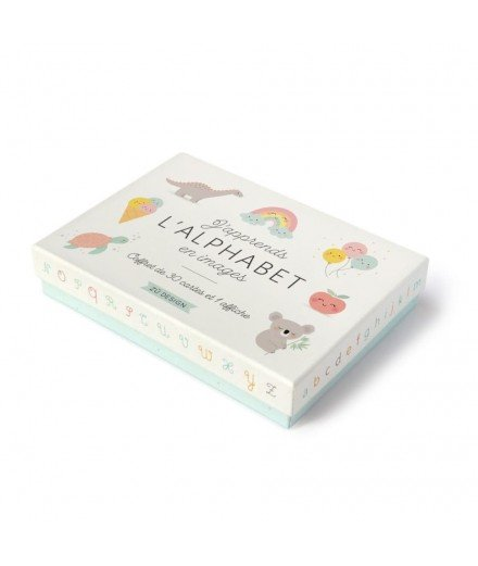 "Coffret de cartes ""J'apprends l'alphabet en images"""
