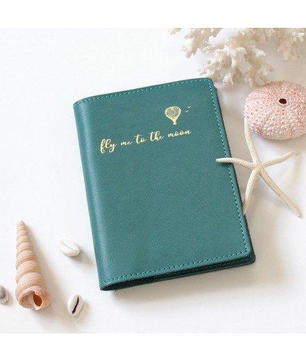 Etui à passeport en cuir - Vert