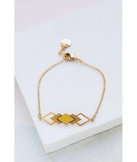 Bracelet doré à l'or fin Homage - Jaune