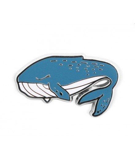 Pin's émaillé baleine bleue