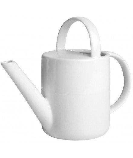 Arrosoir en porcelaine blanche