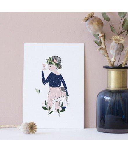 Affiche Adelaïde bleu - Format A5
