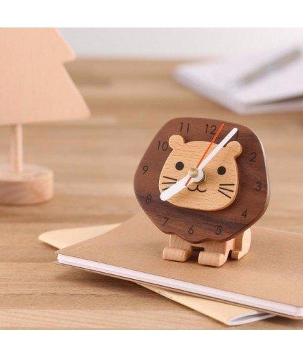Horloge pour enfant Lion en bois