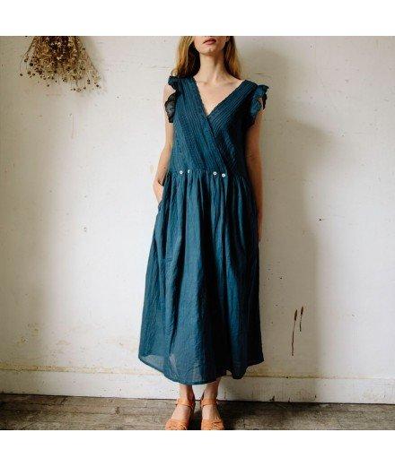 Robe longue vintage - Indigo