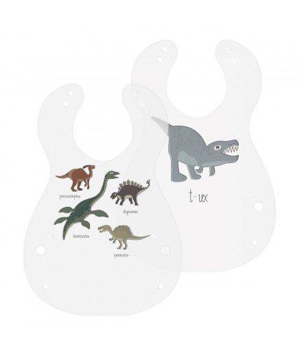 Set de 2 bavoirs - Dinosaures