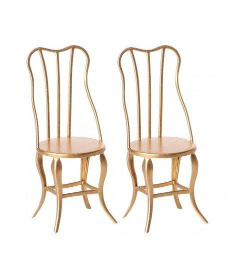 Set de deux chaises dorées - Maileg