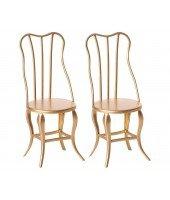 Deux chaises en métal pour maison de poupées - Maileg
