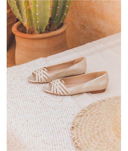 Sandale L'Entremêlée - Or sablé