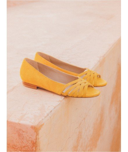 Sandale L'Entremêlée - Jaune safran