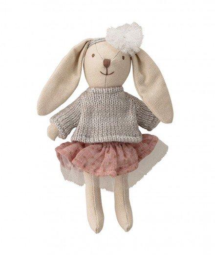 Petite poupée en tissu - Lapin à tutu