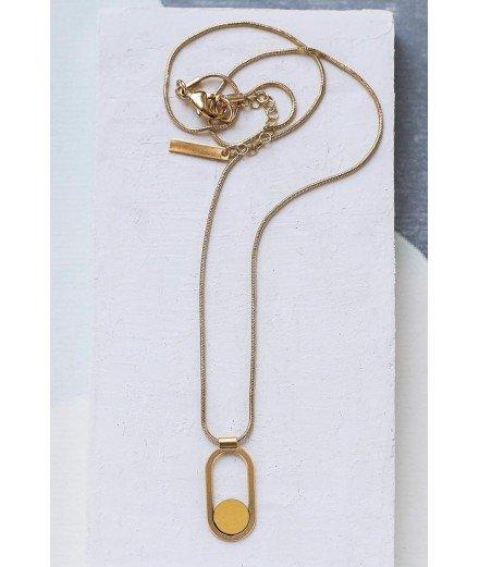 Collier doré à l'or fin Contour - jaune