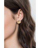 Boucles d'oreilles puces Amphi - Noir