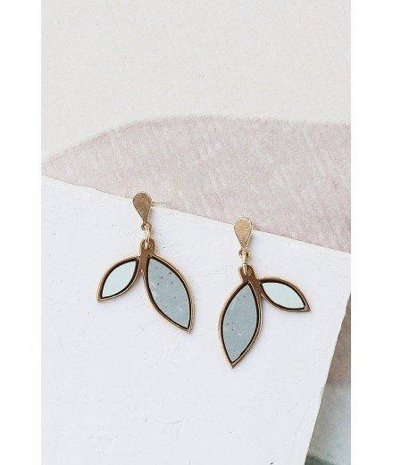 Boucles d'oreilles Louise - Vert