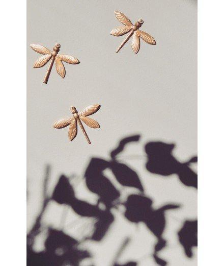 Trio de libellules en laiton