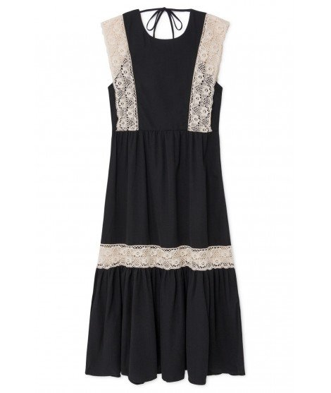 Robe Longue Noire Et Broderie Anglaise Adelaide Skatie Merci Leonie