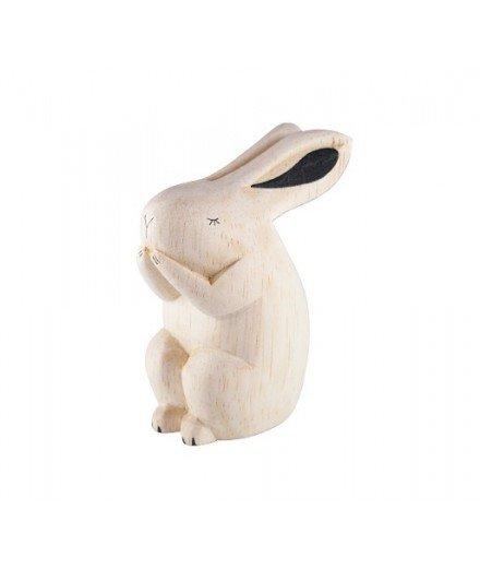 Figurine lapin en bois