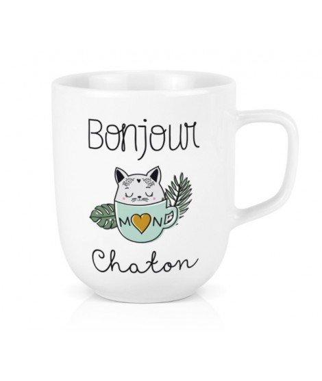 Mug XL - Bonjour Chaton