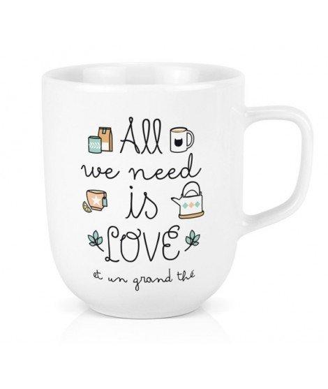 Mug XL - All we need is love et un grand thé
