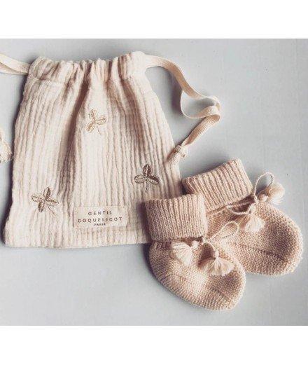 Chausson bébé 0-6 mois - Beige
