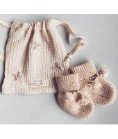 Chaussons bébé 0-6 mois - Beige